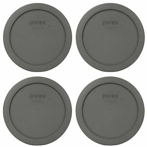 Pyrex 7201-PC Puddle Gray Plastic Storage Replacement Lid Cover (4-Pack)