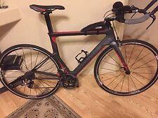 2015 Cannondale Slice Triathlon bike, Carbon 54cm Sram Red, Specialized tires