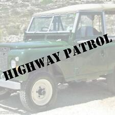 HIGHWAY PATROL Schriftzug Aufkleber Polizei decal SHERIFF US ARMY