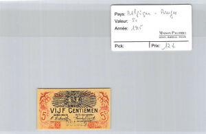 Belgique - Bruges 5 centimes 1915