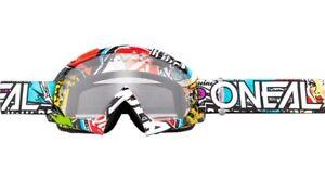 Maschera-Motocross-MTB-DH-O-039-Neal-Crank-B-10-Multi-Lente-chiara