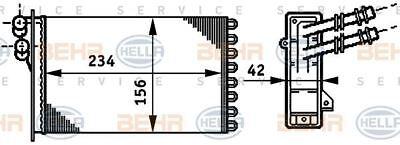 8fh 351 311-021 Hella Scambiatore Calore Interno Termico