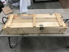 105 MM Army Wooden Ammunition Ammo Mortar  Projo Box. bigger than 50 30 cal can