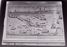 British Ships In Boston Harbor 1768 Print Late 1800s Glass Plate Negative 8 x 10