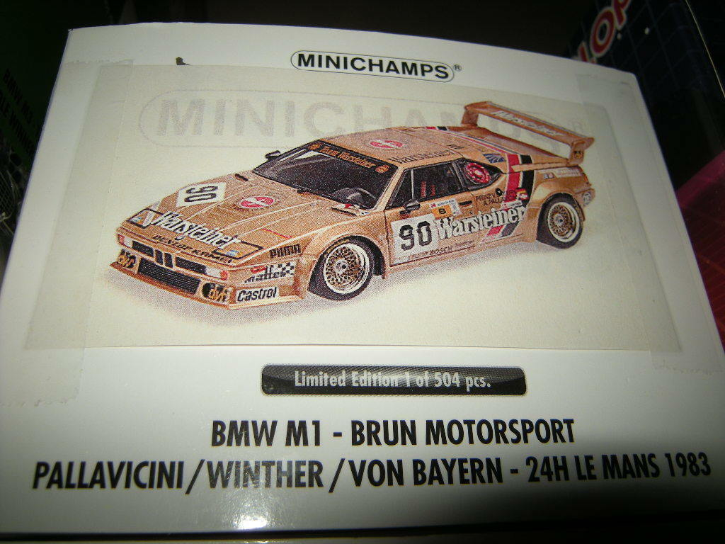 1 18 Minichamps BMW M1 Brun  90 24h Le Mans 1983 Limited Edition 1 of 504 OVP