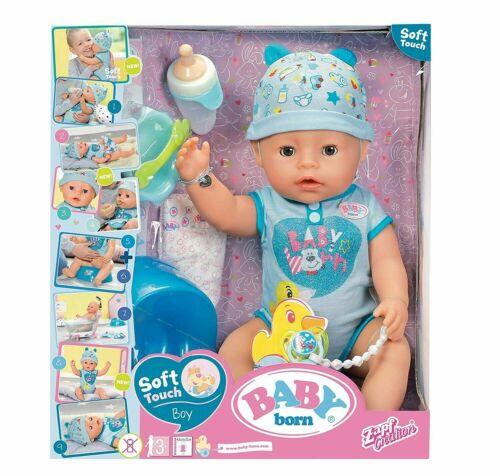 GIOCHI PREZIOSI BABY BORN BOY SOFT TOUCH BAMBOLA 43 CM