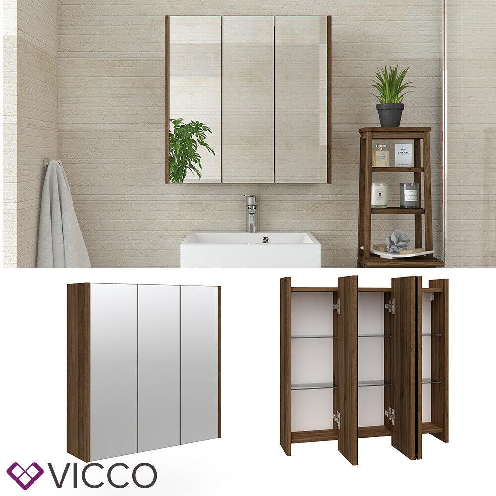 VICCO Badspiegel MAJEST Nussbaum - Spiegel Spiegelschrank Wandspiegel