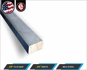 """3//8/"""" x 3/"""" x 48/"""" Grade A36 Hot Rolled Steel Flat Bar"""