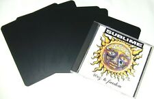 "(1000) CDNS60BK30 Black Jewel Case CD Divider Cards Heavy Duty 5 5/8""x6"" 30 Mil"