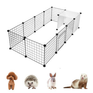 14 Panel Metal Pet Playpen Dog Puppy Cat Rabbit Exercise Fence Yard Kennel DIY