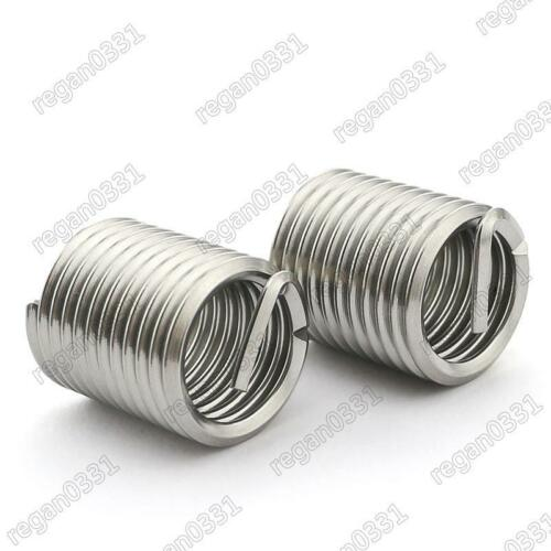 50pcs M5x0.8x1D Metric Helicoil Screw Thread Wire Inserts 304 Stainless Steel