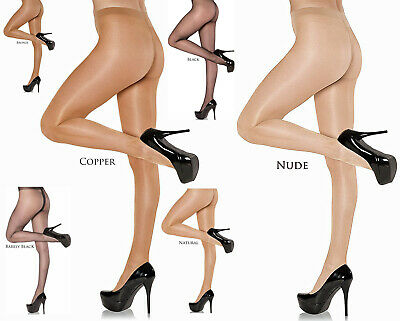3 Pairs NYLONZ Seamed Sheer To Waist Pantyhose S M L XL Tights BLACK /& RED