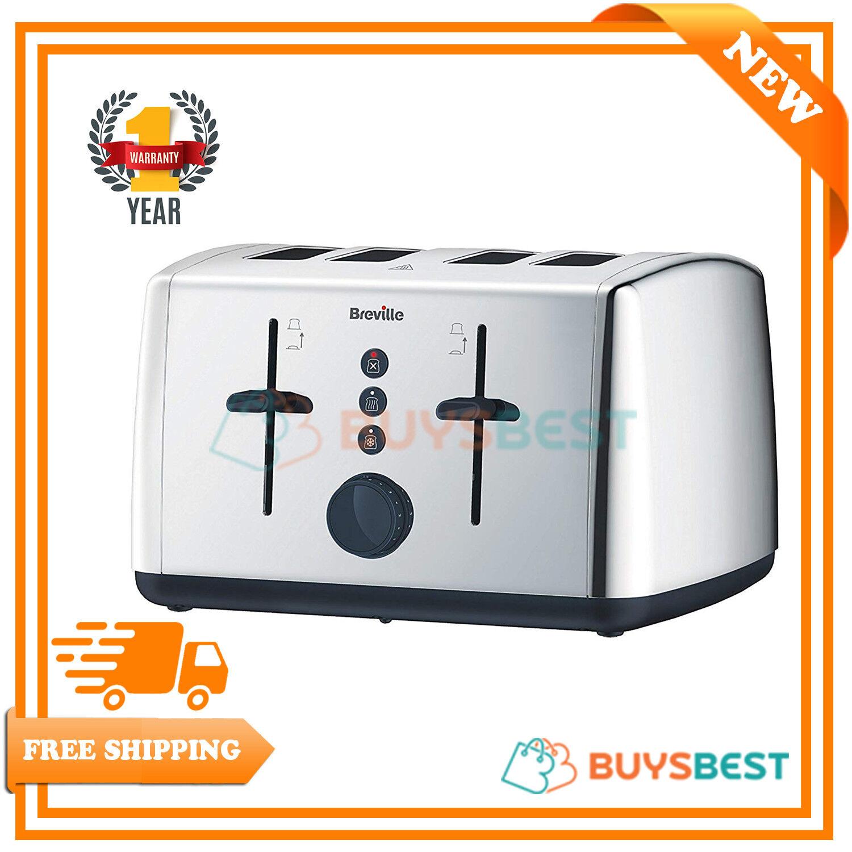 Breville Vista 4 Slice Polished Stainless Steel Toaster - VTT549
