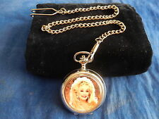 DOLLY PARTON CHROME POCKET WATCH WITH CHAIN (NEW)
