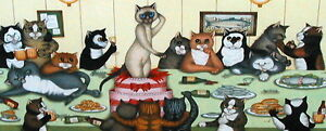 Linda-Jane-Smith-THE-STAG-PARTY-Kittens-Cats-Feline-Comedy-Humour-Cute-Art