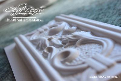 10 plastic molds *TRAVERTINO* for concrete plaster wall stone tiles DIY``