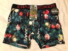 Crazy Boxers Mens Boxer Briefs Christmas Pine Branches Ornaments Size S