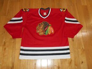 6731c1c4cf9 Image is loading Vintage-CCM-Maska-Red-CHICAGO-BLACKHAWKS-Mens-NHL-