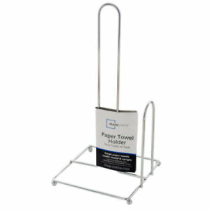 Paper-Towel-Holder-Chrome-Finish-Square-Base-Ball-Feet-Mainstays