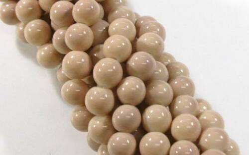 40 Glasperlen Rund opak 10mm Glas Perlen FARBAUSWAHL