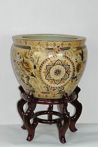 Collectibles-Oriental-Japanese-satsuma-porcelain-planter