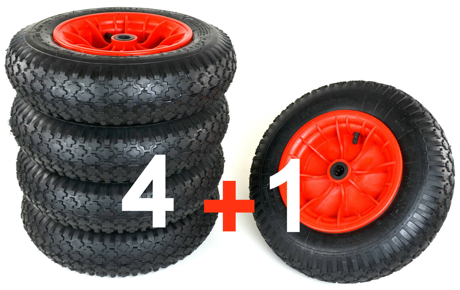 5 schubkarrenrad n7 rueda de repuesto 4.80 4.00-8 ruedas 400 Cocheretilla rueda Cochero para jardín