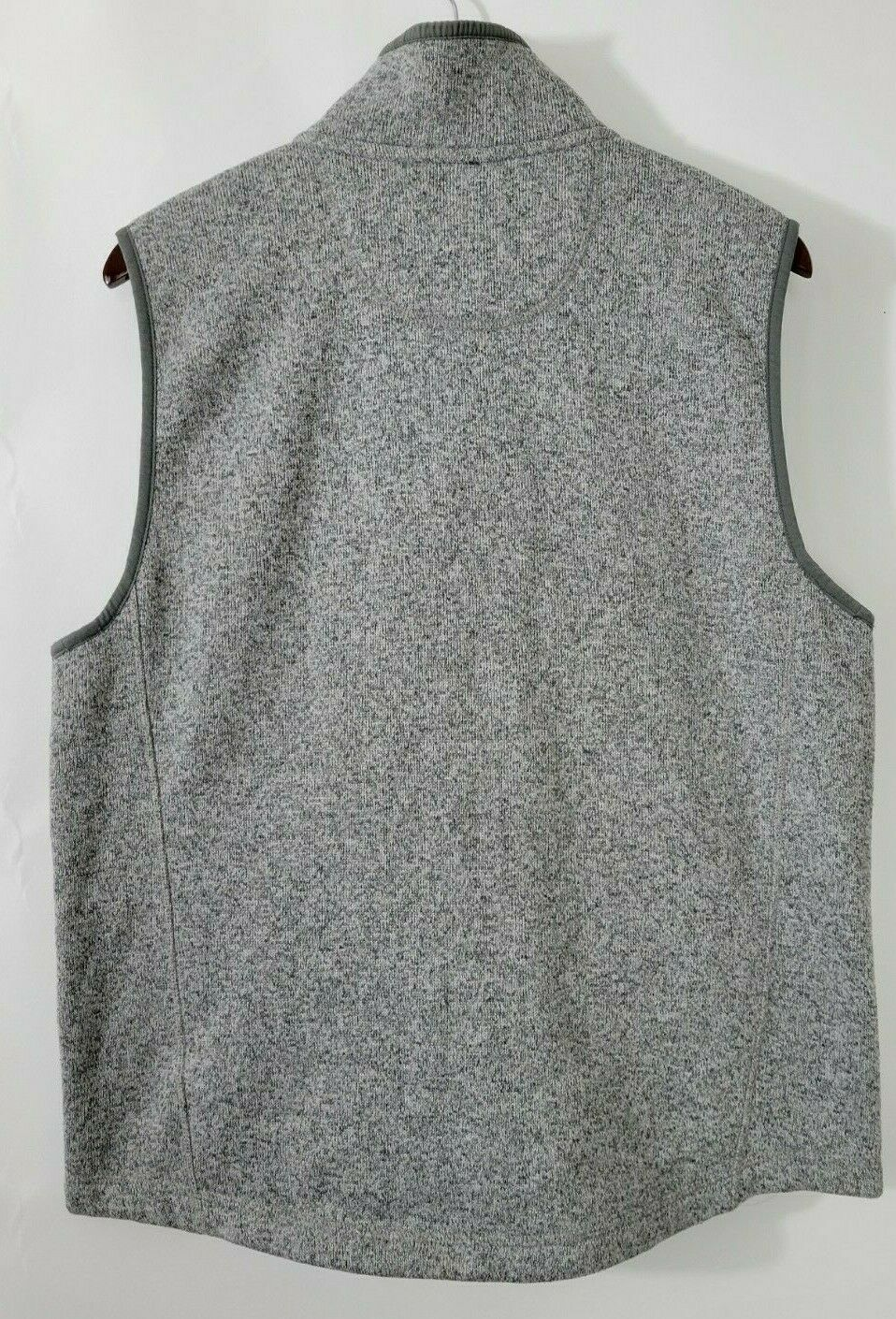 L.L. BEAN Sweater Vest Slightly Fitted Gray Heath… - image 2