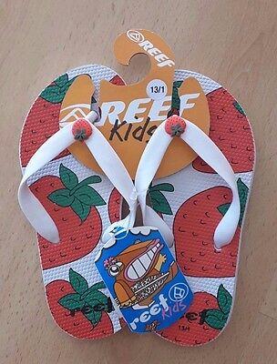 BNWT!! Lovely Kids Canvas Reef Flip Flops in Green or Orange Various Sizes