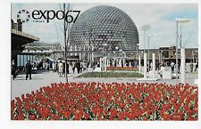 Expo 67 Montreal Canada Pavilion of the United States Flowers Vintage Postcard