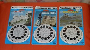 SOUTH-DAKOTA-VIEW-MASTER-REELS-LOT-x3-new-sealed-Black-Hills-Badlands-Rushmore