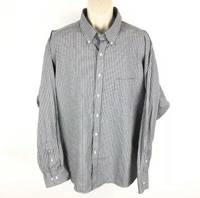 Sensible Chaps Brown Plaid Button Up Classic Fit Twill Shirt Size 18 18.5 36/37 Evident Effect Shirts