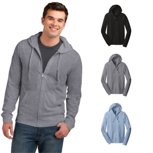 District-Young-Mens-Jersey-Full-Zip-Up-Hoodie-Light-Weight-Layerable-Soft-DT1100