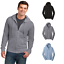 District-Young-Mens-Jersey-Full-Zip-Up-Hoodie-Light-Weight-Layerable-Soft-DT1100 thumbnail 1