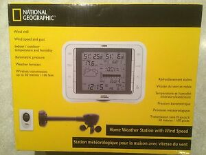 New Wireless National Geographic Weather Station Displays 13 Conditions Forcast