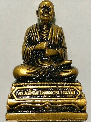 PHRA UPAKHUT LP RARE OLD THAI BUDDHA AMULET PENDANT MAGIC ANCIENT IDOL#9
