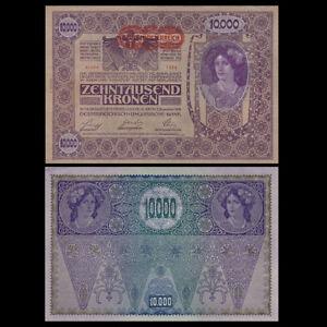 Austria-10000-10-000-Kronen-1918-P-66-Big-size-A-UNC