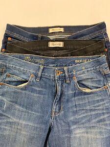 Lot-of-3-Madewell-Women-039-s-Jeans-29-Skinny-Cali-Demi-Boot-Boyjean-NEEDS-REPAIR