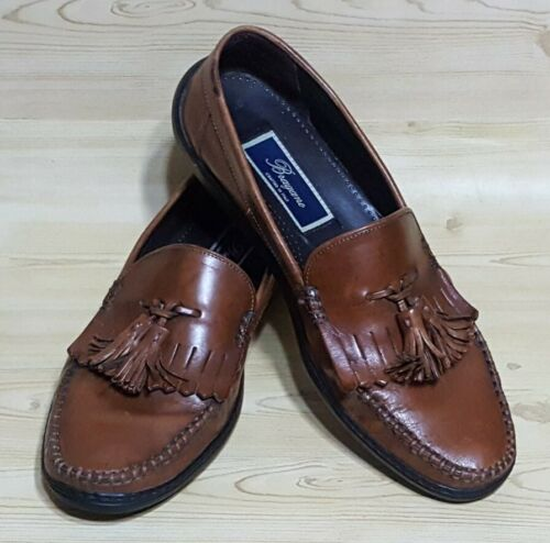 Bragano Loafers Tassel Mens Brown Leather Made in