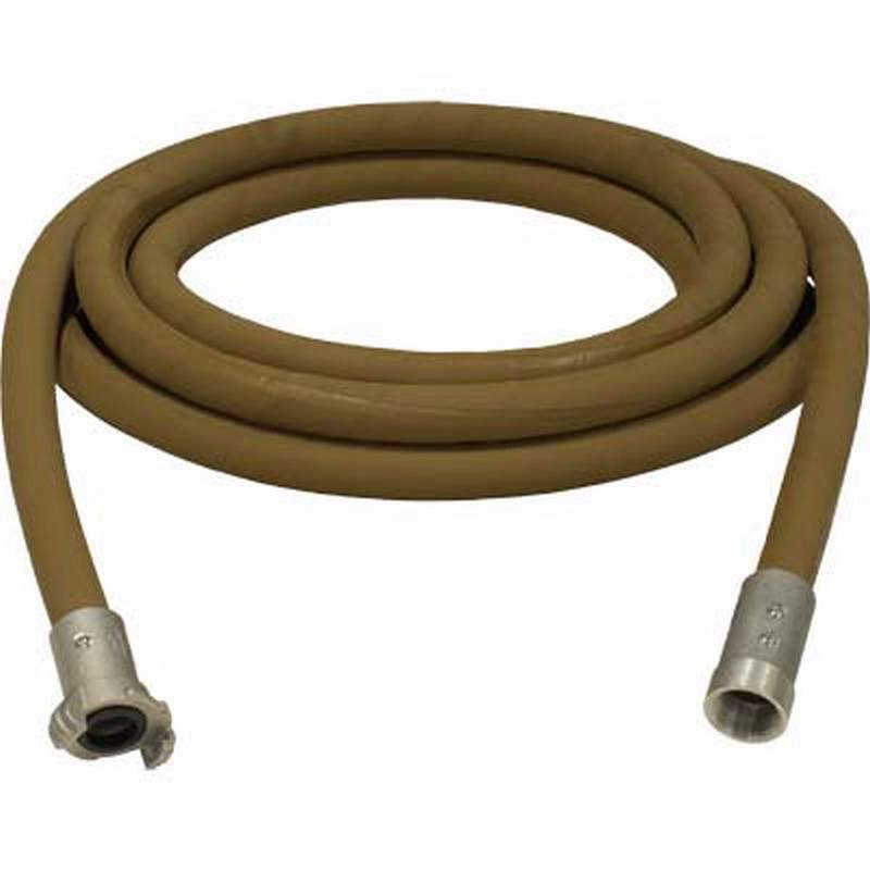 1  X 25' SUPA BROWN TAN SANDBLASTING WHIP HOSE & ALUMINUM NOZZLE HOLDER