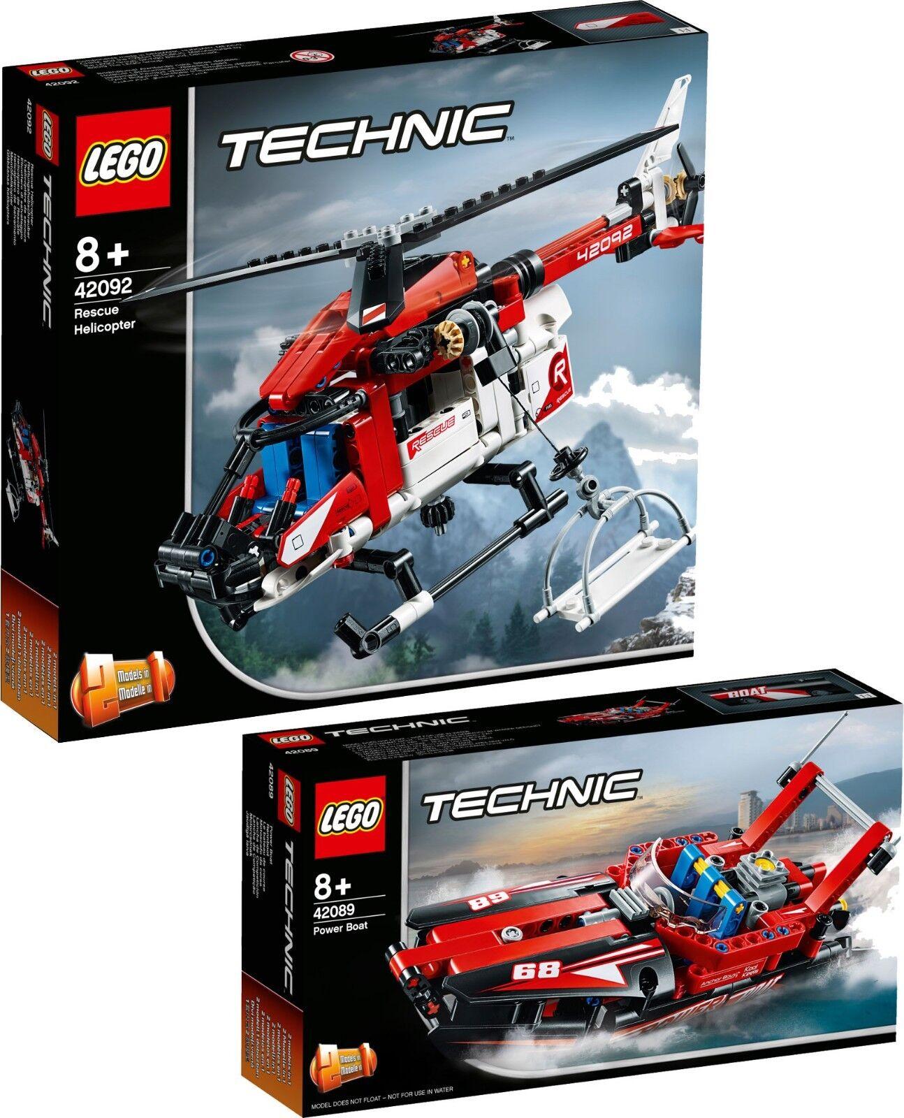 LEGO Technic Rettungshubschrauber 42092 + 42089 RennStiefel VORVERKAUF