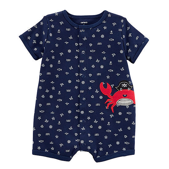 The William Carter Co Set of 5 Baby Boys Size 9-Months S//S Rompers