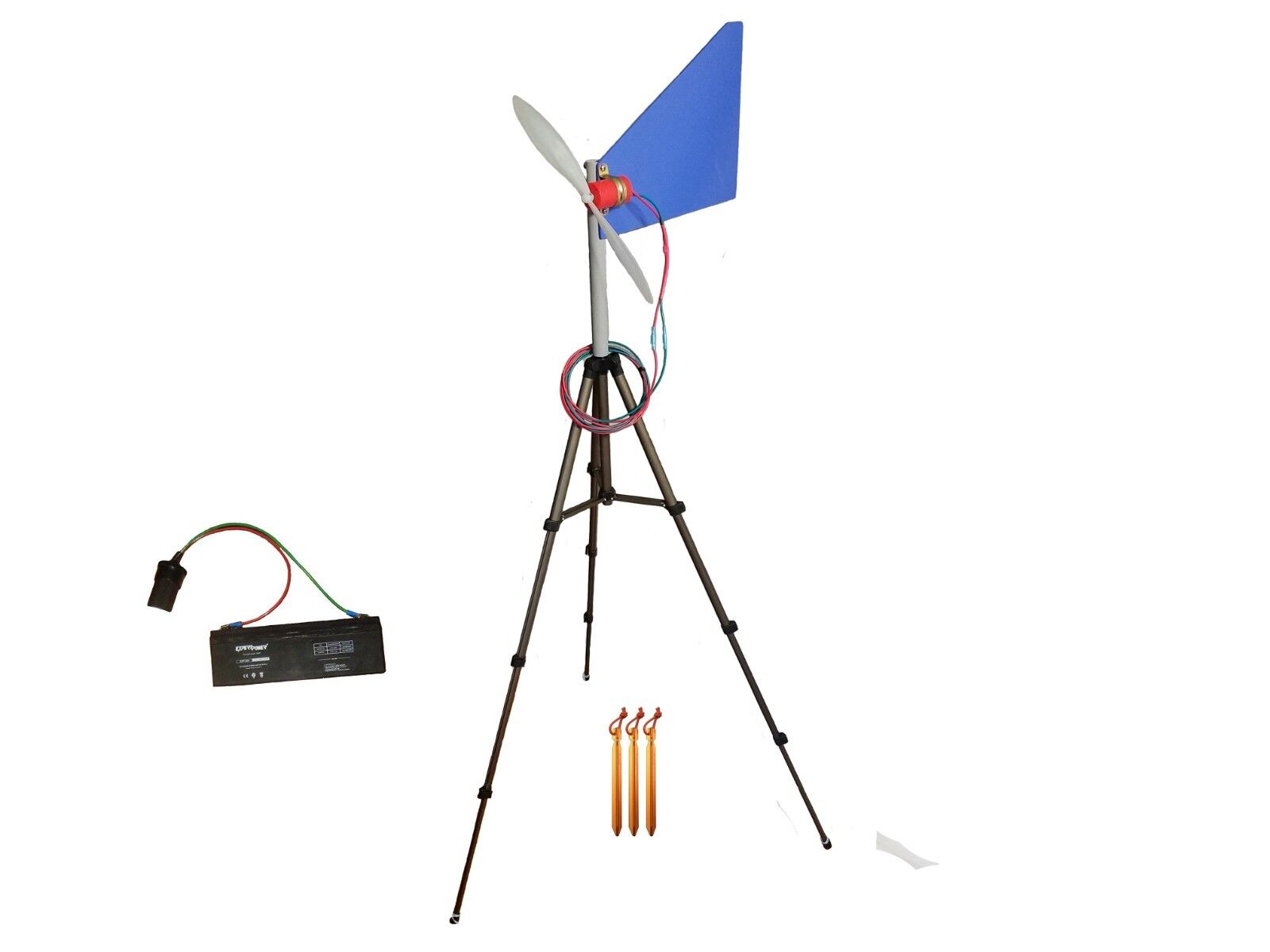 Travel Wind Turbine 12 Volt Generator Kit with Battery