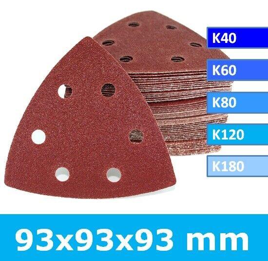 Schleifblätter für Multischleifer Deltaschleifer Dreieckschleifer 93x93x93mm