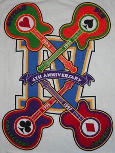 HRC-LAS-VEGAS-Lg-T-SHIRT-1997-4th-034-GPCS-034-Guitar-PIN-Collector-Society-White-Tee