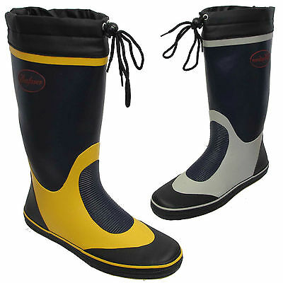 Mens Original Seafarer Rubber Waterproof Sailing Wellies Wellington Boots Uk Siz