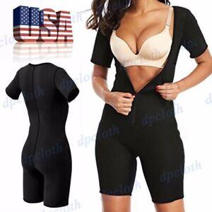 US Neoprene Sauna Suit Full Body Shaper Ultra Sweat Weight Loss Yoga Bodysuit