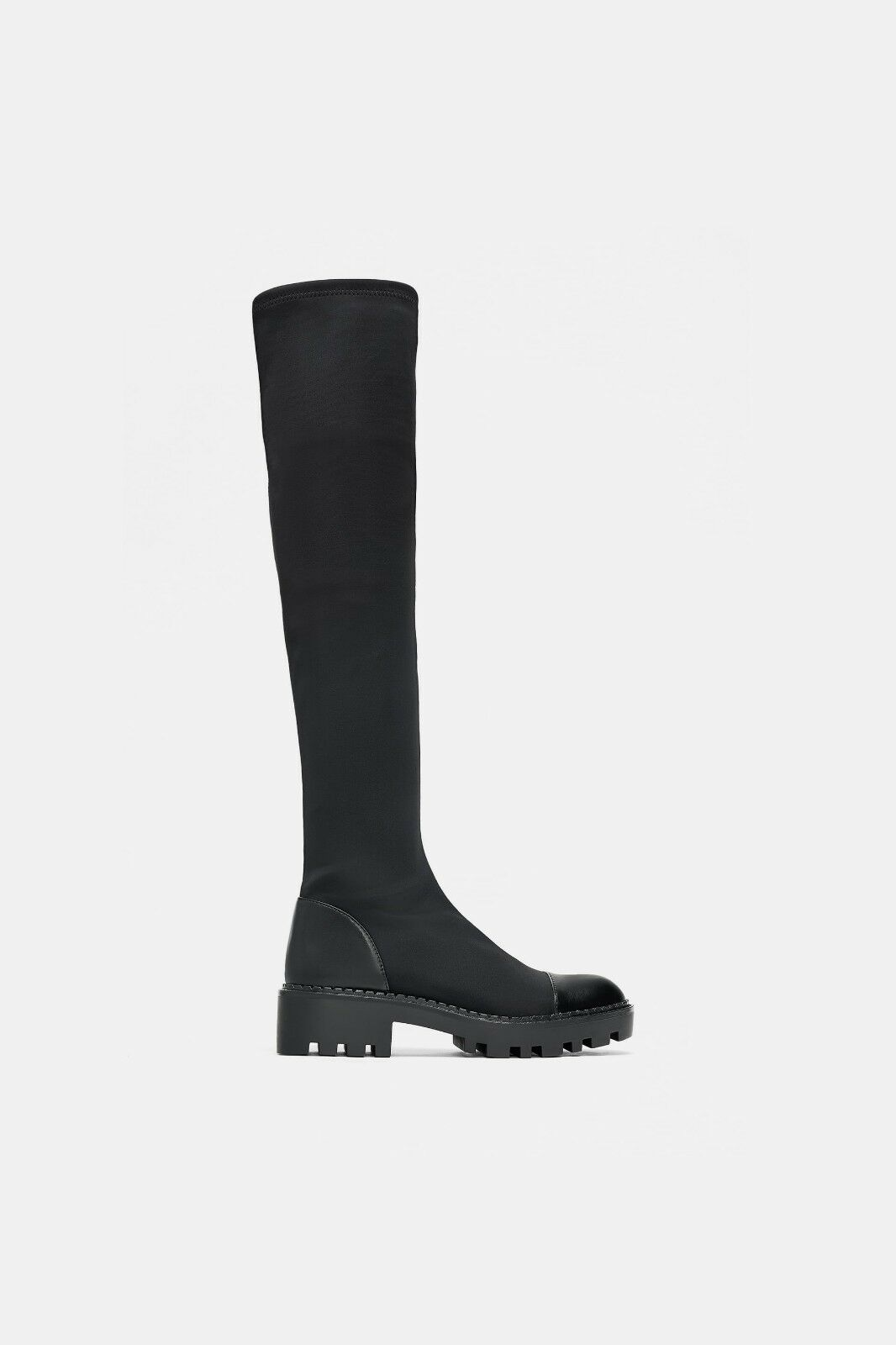 ZARA NEW AW 2018 TALL TRACK SOLE TALL 2018 Stiefel ALL SIZES AVAILABLE BLACK REF. 7050/301 470a5e