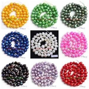 "5-7mm Natural Deep Green Freshwater Pearl Freeform Shape Gems Beads Strand 14/"""