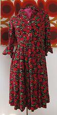 Abito VINTAGE DRESS ROBE klänning 50er ANNI ROCKABILLY GR: 40/42 M/L