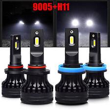 2Pair Combo CSP 30W 9005+H11 20000LM LED Car Headlight High//Low Beam Bulbs White